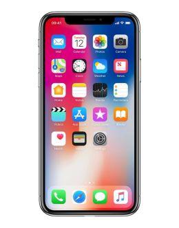 Айфон 10 в цвете серый космос на фото (space grey)