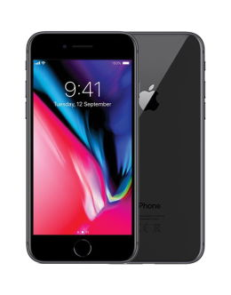Черный Айфон 8 на фото (space grey)