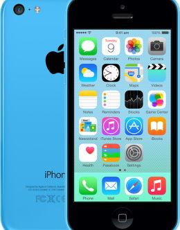 Синий iPhone 5c на фото (blue)