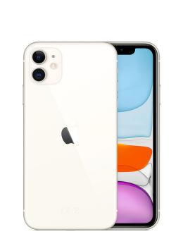 Белый Айфон 11 на фото