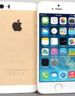 Золотой iPhone 5s на фото (gold)